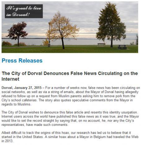 Опровержение на кметството на Дорвал
